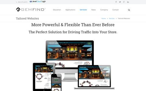 Screenshot of Services Page gemfind.com - Theme Website Design, Jewelry Website Templates - captured March 1, 2016