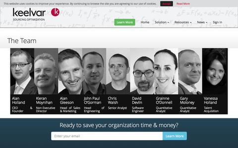 Screenshot of Team Page keelvar.com - Highly Qualified Team I Sourcing & Procurement Optimization - captured Oct. 28, 2014