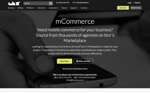 Mobile Commerce Software Developers | blur Group