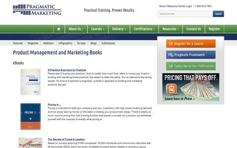 Pragmatic Marketing eBooks - Product Management and Product Marketing Thought Leadership