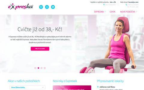 Screenshot of Home Page expreska.cz - Expreska | Expreska - captured Sept. 27, 2015