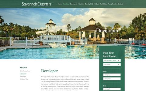 Screenshot of Developers Page savannahquarters.com - Developer | Savannah Quarters - captured Dec. 22, 2015