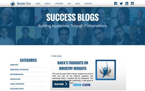 Screenshot of Blog success-talks.co.uk - Blog | Success Talks | Building Aspirations Through Conversations - captured Oct. 7, 2014