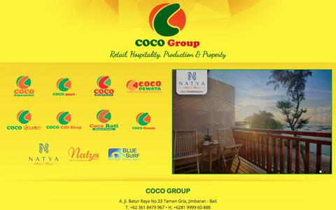 Screenshot of Home Page cocogroupbali.com - Coco group, Retail, Hospitality, Production & Property - captured Aug. 10, 2017