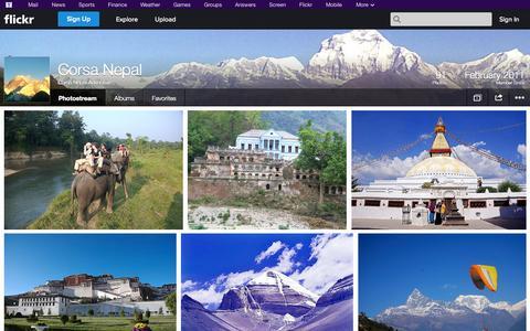 Screenshot of Flickr Page flickr.com - Flickr: Corsa Nepal Adventure's Photostream - captured Oct. 22, 2014