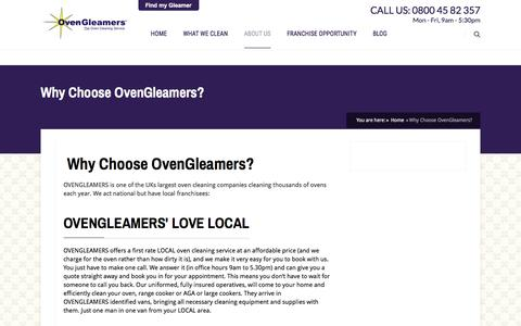 Screenshot of About Page ovengleamers.com - Why Choose OvenGleamers - captured Sept. 16, 2016