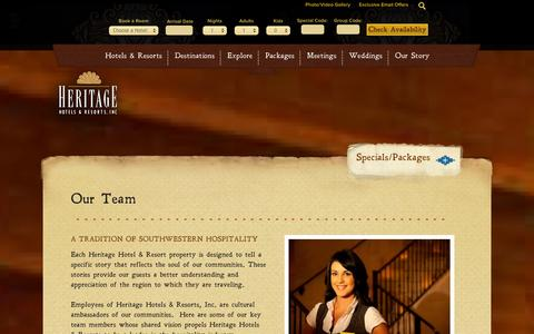 Screenshot of Team Page hhandr.com - Our Team - Hotel & Marketing Management Team | Heritage Hotels & Resorts - captured Oct. 2, 2014