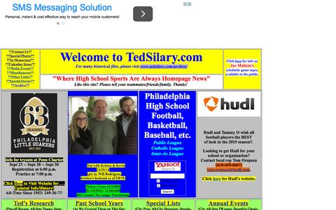 Screenshot of Home Page tedsilary.com - Homepage of TEDSILARY.COM - captured Oct. 9, 2015