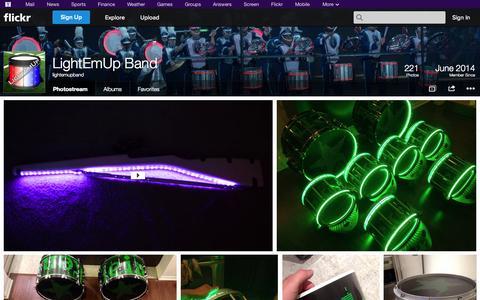 Screenshot of Flickr Page flickr.com - Flickr: lightemupband's Photostream - captured Oct. 23, 2014