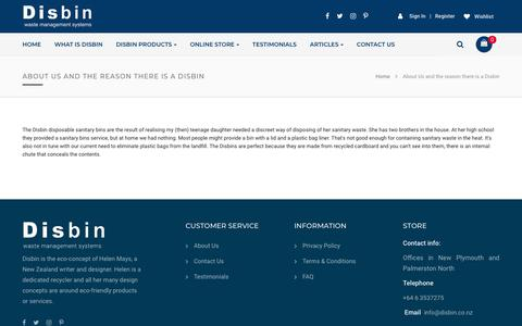Screenshot of About Page disbin.com - About Us and the reason there is a Disbin | disbin - captured Nov. 14, 2018
