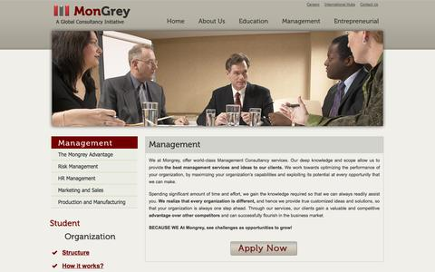 Screenshot of Team Page mongrey.com - Management | Mongrey - captured Oct. 7, 2014