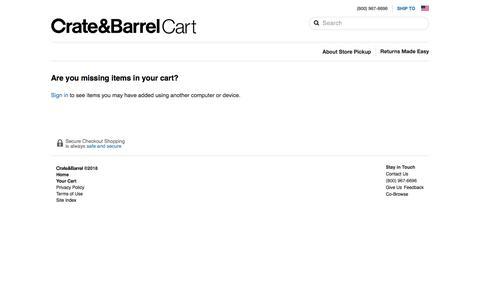 Cart | Crate and Barrel