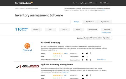 Top Inventory Management Software - 2017 Reviews & Pricing