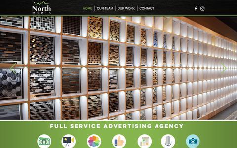 Screenshot of Home Page northmedia.net - North Media | Premier Denver Advertising Agency - captured Nov. 7, 2018