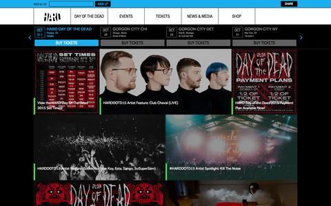 Screenshot of Press Page hardfest.com - HARD Fest  | News - captured Oct. 27, 2015