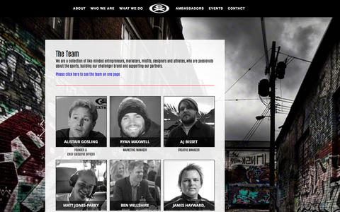Screenshot of Team Page extremesportscompany.com - The EXTREME Sports Company Brand Management Team - captured Sept. 28, 2016