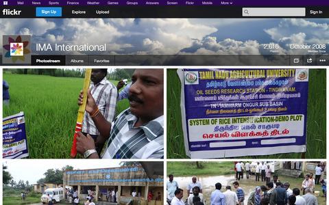 Screenshot of Flickr Page flickr.com - Flickr: IMA International's Photostream - captured Oct. 22, 2014