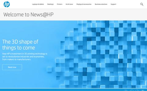 Screenshot of Press Page hp.com - News, Technology News, Videos, Podcasts  | HP® Official Site - captured May 12, 2016