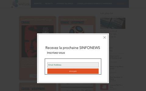 Screenshot of Blog sinfoni.net - sinfoni | SINFONEWS - captured Nov. 11, 2018