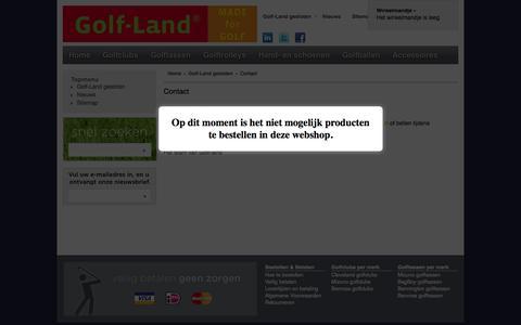 Screenshot of Contact Page golf-land.nl - Contact - captured Sept. 27, 2014