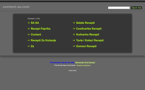 Screenshot of Home Page content-sa.com - Content-Sa.com - captured Jan. 31, 2016