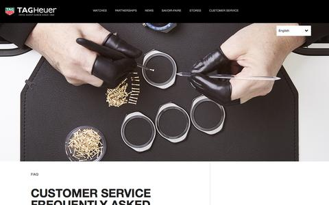 Screenshot of FAQ Page tagheuer.com - FAQ - Frequently Asked Questions | TAG Heuer - captured Sept. 23, 2018