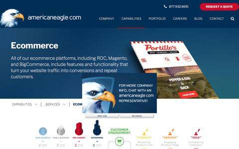 Screenshot of Services Page americaneagle.com - Ecommerce Web Solutions    Americaneagle.com - captured March 5, 2018
