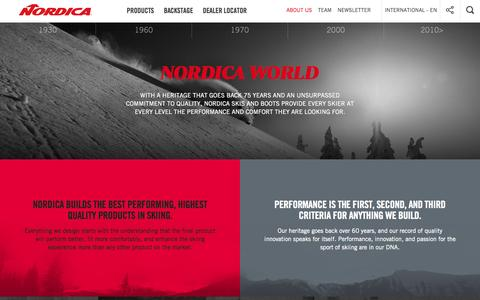 Screenshot of About Page nordica.com - About Us  - Nordica Ski and Boot 2015/2016 - captured Aug. 12, 2015