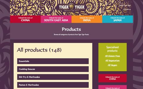 Screenshot of Products Page tigertiger.info - Find Tiger Tiger Foods products - captured Oct. 3, 2014