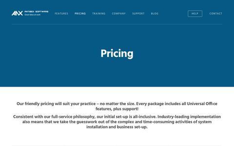 Screenshot of Pricing Page antibex.com - Pricing – Antibex Software - captured Nov. 21, 2016