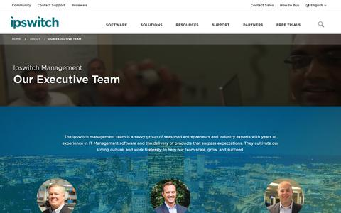 Screenshot of Team Page ipswitch.com - Our Team - About Ipswitch - Ipswitch - captured Jan. 23, 2019