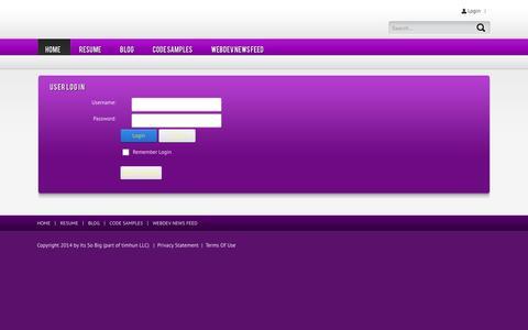 Screenshot of Login Page itssobig.com - User Log In - captured Nov. 4, 2014