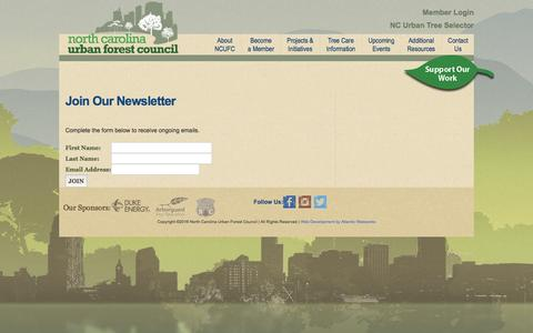 Screenshot of Signup Page ncufc.org - Protecting, Sustaining, Advocacy -North Carolina Urban Forest Council - captured Nov. 30, 2016