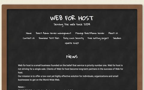 Screenshot of Press Page web4host.net - News | Web for host - captured April 4, 2016