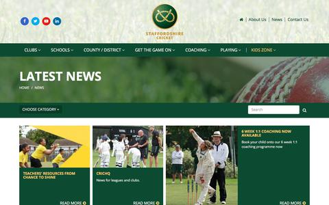 Screenshot of Press Page staffordshirecricket.co.uk - News | Staffordshire Cricket - captured Oct. 24, 2017