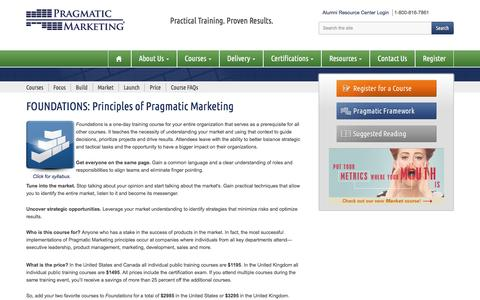 Principles of Pragmatic Marketing