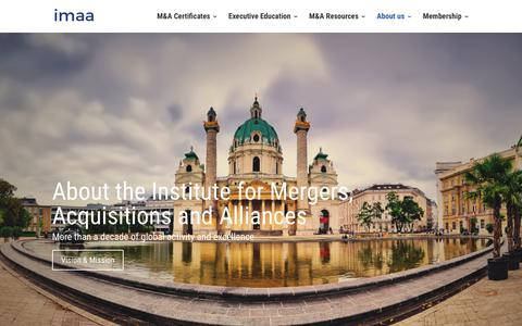 Screenshot of About Page imaa-institute.org - About the Institute for Mergers, Acquisitions and Alliances (IMAA) - captured Oct. 15, 2017