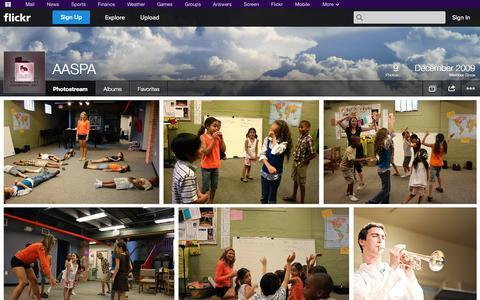 Screenshot of Flickr Page flickr.com - Flickr: AASPA's Photostream - captured Oct. 23, 2014