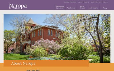 Screenshot of About Page naropa.edu - About Naropa - captured March 11, 2017