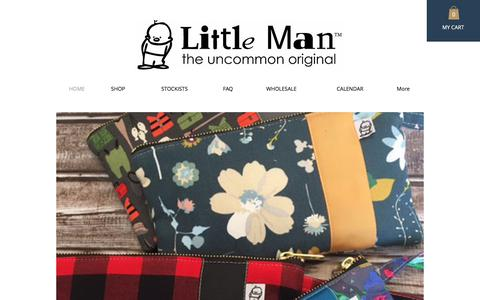 Screenshot of Home Page littlemanoriginals.com - Fabric Handbags and Accessories - captured Jan. 8, 2018