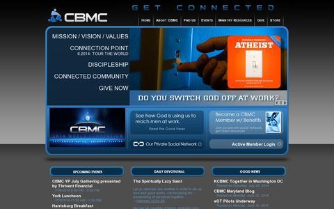Screenshot of Home Page cbmc.com - CBMC - captured July 11, 2014