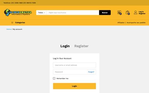 Screenshot of Login Page gsinformatica.info - My account - Gs Informatica - captured Nov. 5, 2018