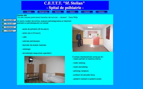 Screenshot of Home Page cetttsfstelian.ro - Spitalul Sf. Stelian - captured Oct. 11, 2015