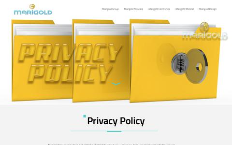 Screenshot of Privacy Page marigoldgroup.com - Privacy Policy - Marigold Group - captured Oct. 2, 2018