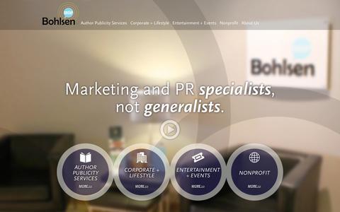Screenshot of Home Page bohlsengroup.com - Bohlsen Group - captured Sept. 30, 2014