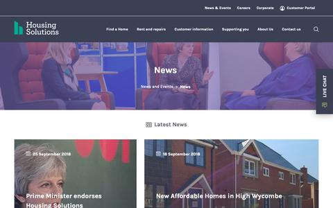 Screenshot of Press Page housingsolutions.co.uk - News   Housing Solutions - captured Sept. 30, 2018