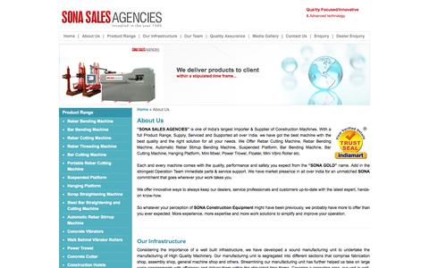 Screenshot of About Page Team Page sonavibrators.in - About Us - Sona Sales Agencies, New Delhi, India - captured Oct. 26, 2014