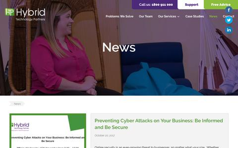 Screenshot of Press Page hybridtp.ie - News   Hybrid TP - captured Dec. 16, 2018