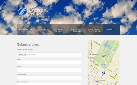 Screenshot of Contact Page liquidityworks.com - Contact –   Liquidity Works - captured Oct. 2, 2014