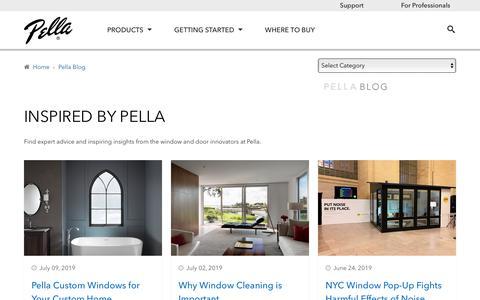 Screenshot of Blog pella.com - Better View Blog | Pella - captured July 21, 2019